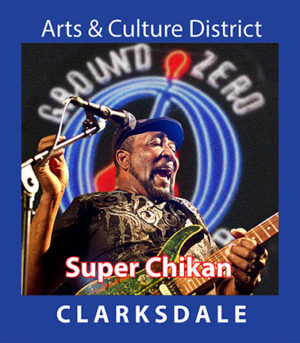Contemporary Clarksdale bluesman, Super Chikan.