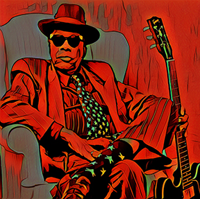 John Lee Hooker also brought about his own world change.